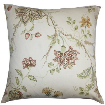 Ithaca Floral Throw Pillow Cover Color: Red White