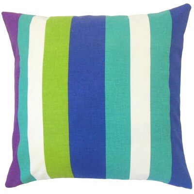 Gainell Stripes Cotton Throw Pillow Cover Color: Blast