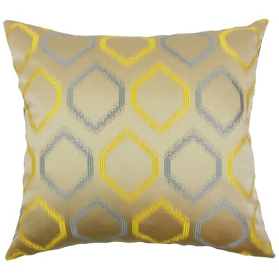 Burbach Geometric Throw Pillow Cover Color: Hemlock