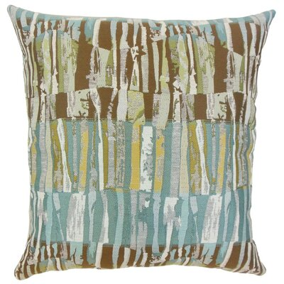 Prunella Stripes Throw Pillow Cover Color: Blue