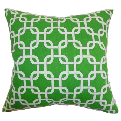 Qishn Geom Throw Pillow Cover Color: Callie White
