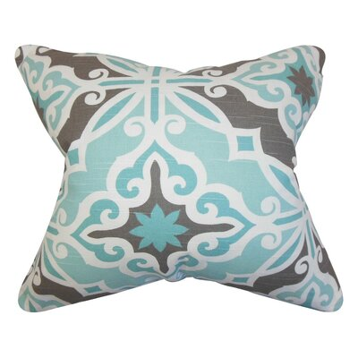 Adriel Geometric Cotton Throw Pillow Cover Color: Blue Gray
