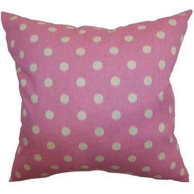 Rennice Ikat Dots Throw Pillow Cover Color: Pink