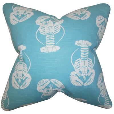Haya Coastal Bedding Sham Color: Blue, Size: Standard STD-pp-lobsterslub-coastalblue