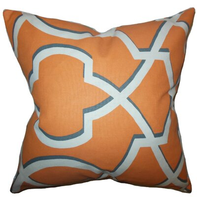 Curan Geometric Bedding Sham Size: Euro, Color: Orange