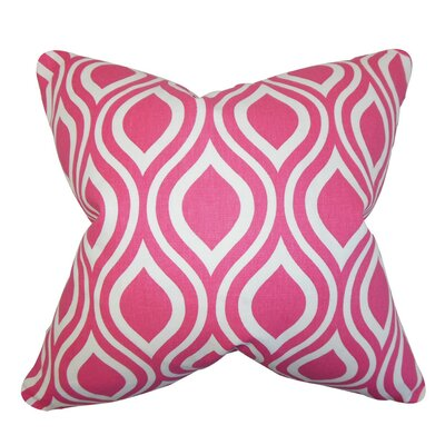 Burdge Geometric Cotton Throw Pillow Cover Color: Candy Pink