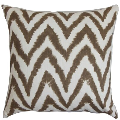 Kingspear Zigzag Throw Pillow Cover Color: Brown White