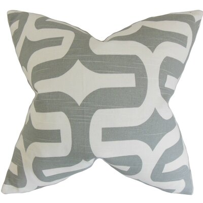 Libbie Cotton Throw Pillow Cover Color: Ash Gray, Size: 18 H x 18 W