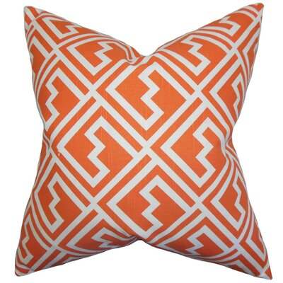 Ragnhild Geometric Throw Pillow Cover Color: Tangerine