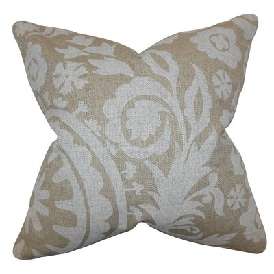 Wella Floral Throw Pillow Cover Color: Natural
