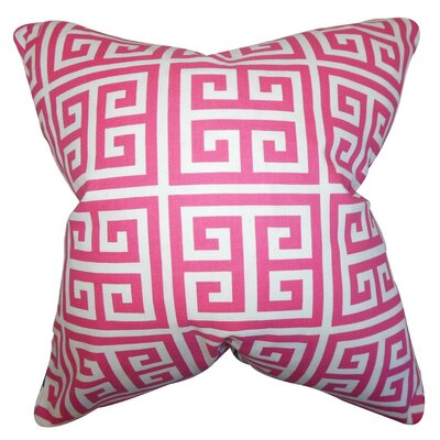 Kieffer Greek Key Bedding Sham Size: King, Color: Candy Pink