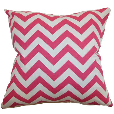 Burd Zigzag Throw Pillow Cover Color: Candy Pink