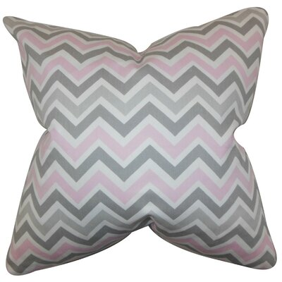 Howel Zigzag Cotton Throw Pillow Cover Color: Twill