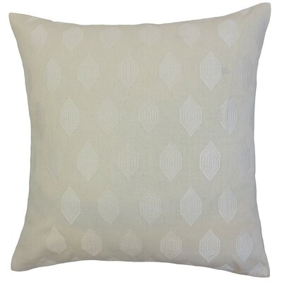 Gal Geometric Throw Pillow Cover Color: Ivory