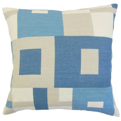 Hoya Geometric Bedding Sham Color: Ocean, Size: King