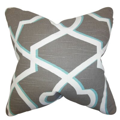 Curan Geometric Cotton Throw Pillow Cover Color: Gray