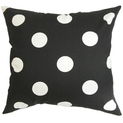 Rane Polka Dots Bedding Sham Size: King, Color: Black/White