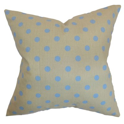 Nancy Polka Dots Throw Pillow Cover Color: Gray Blue