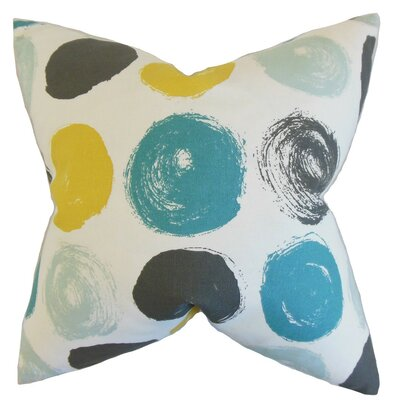 Xenophon Geometric Throw Pillow Cover Color: Blue Dot