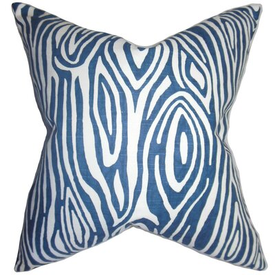 Thirza Swirls Bedding Sham Color: Blue, Size: King