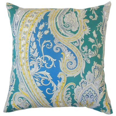Efharis Paisley Bedding Sham Size: Queen, Color: Calypso Blue