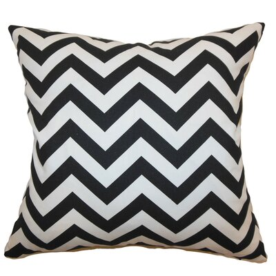 Burd Zigzag Throw Pillow Cover Color: Black