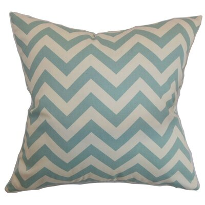 Burd Zigzag Throw Pillow Cover Color: Village Blue Natural