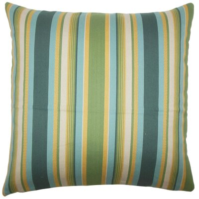 Tefo Striped Throw Pillow Size: 18 x 18, Color: Cabana