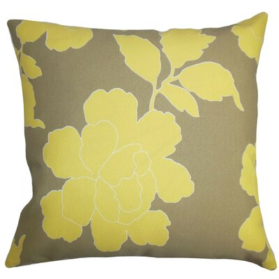 Verda Floral Outdoor Cotton Throw Pillow Cover