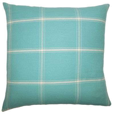Sabriyya Plaid Cotton Throw Pillow Cover Size: 20 x 20, Color: Aegean
