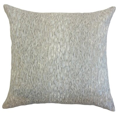 Galen Graphic Linen Throw Pillow Cover Color: Metal