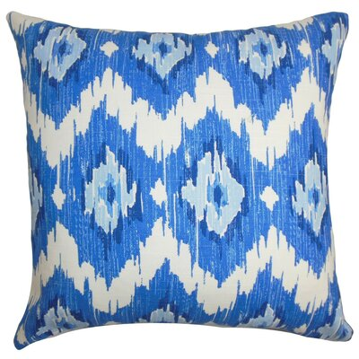 Ulrike Ikat Cotton Throw Pillow Cover Size: 20 x 20