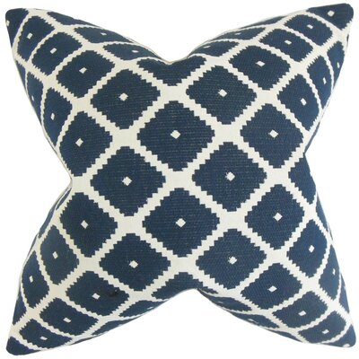 Fallon Geometric Cotton Throw Pillow Cover Color: Blue