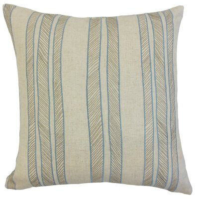 Drum Stripes Cotton Throw Pillow Cover Color: Indigo
