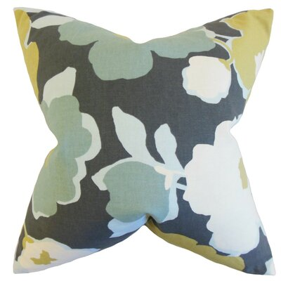 Saar Cotton Throw Pillow Color: Charcoal, Size: 18 x 18