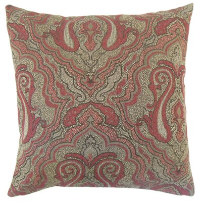 Karleshia Damask Cotton Throw Pillow Cover