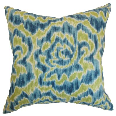 Laserena Throw Pillow Cover Size: 18 x 18, Color: Aqua Green