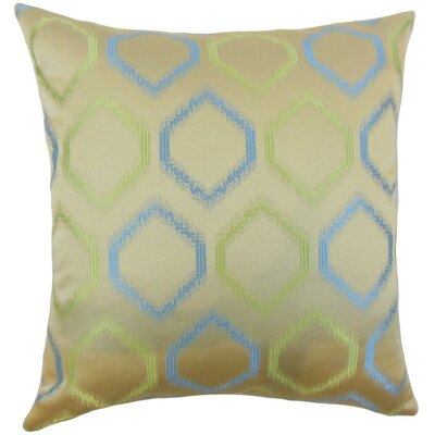 Burbach Geometric Throw Pillow Cover Color: Placid Blue