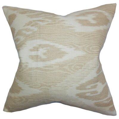 Fernande Ikat Linen Throw Pillow Cover Color: Neutral