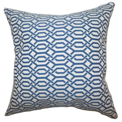 Catriona Geometric Throw Pillow Cover Size: 18