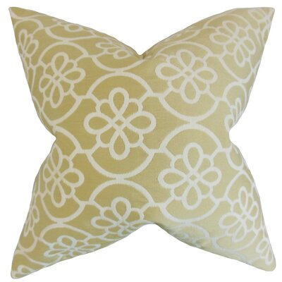 Chaplain Contemporary Geometric Bedding Sham Size: King, Color: Almond