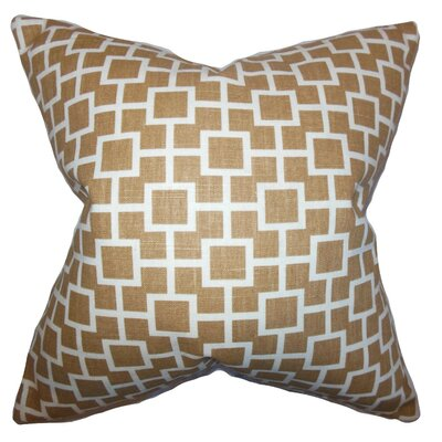 Janka Geometric Cotton Throw Pillow Cover Color: Chestnut