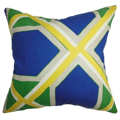 Bullis Geometric Throw Pillow Cover Color: Blue Green
