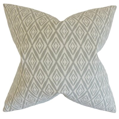 Najila Geometric Throw Pillow Cover Color: Gray