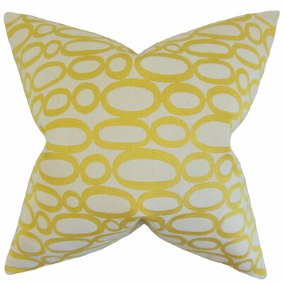 Penshire Geometric Throw Pillow Cover Color: Lemon