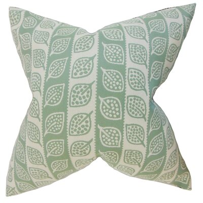 Ottilie Foliage Throw Pillow Cover Color: Leaf Green