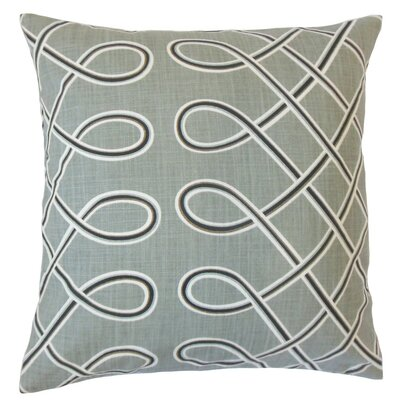 Deance Geometric Cotton Throw Pillow Cover Color: Storm
