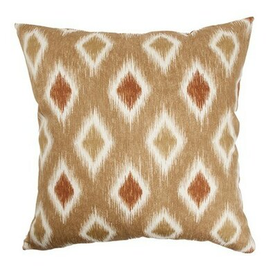 Faela Geometric Bedding Sham Size: King, Color: Canyon