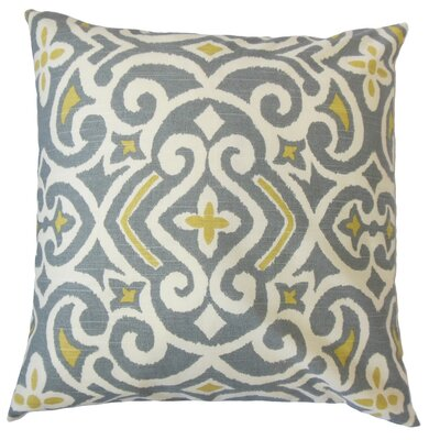 Caraf Damask Cotton Throw Pillow Cover Color: Graystone