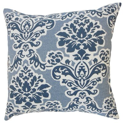 Uvatera Damask Throw Pillow Cover Size: 18 x 18